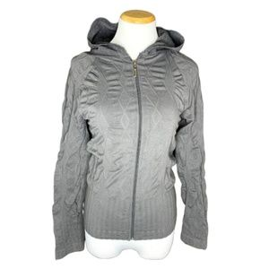 F&F Gray Fitted full zip hoodie size small